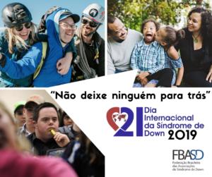 """""""Não deixe ninguém para trás"""" – Tema do Dia Internacional da Síndrome de Down 2019"""