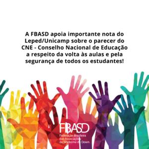 FBASD apoia nota do Leped contra retorno das aulas na pandemia