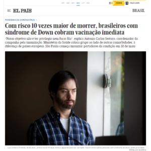 Com risco 10 vezes maior de morrer, brasileiros com síndrome de Down cobram vacinação imediata