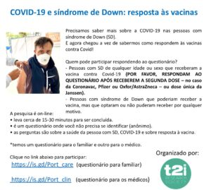 COVID-19 e síndrome de Down: pesquisa sobre os efeitos da vacina.